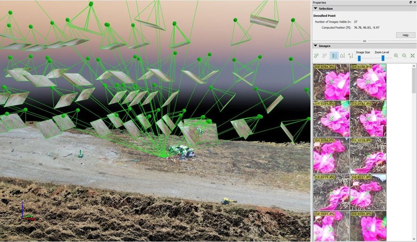 Iowa State Patrol uses Pix4D software to link Trimble GNSS positional data to the corresponding drone images.