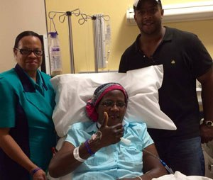 EMT Carolyn Edwards during her recovery. (Image Carolyn Edwards Foundation)