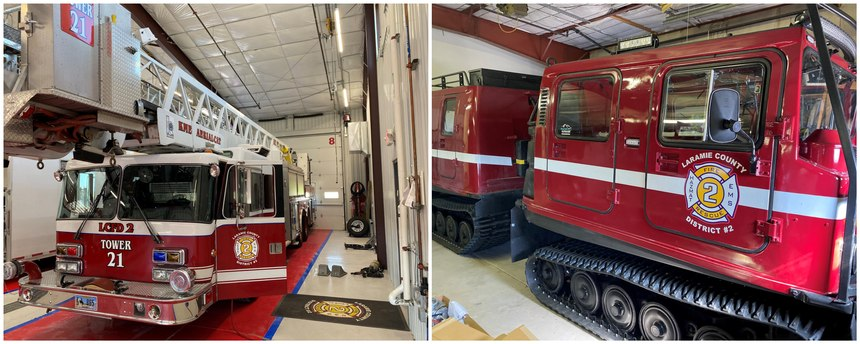 State Forestry or Fire Marshal's offices have access to federal surplus property and can screen and acquire used fire apparatus and trucks that can benefit your organization. Laramie County Fire District #2 received a ladder truck and a Sno-Cat through this program.
