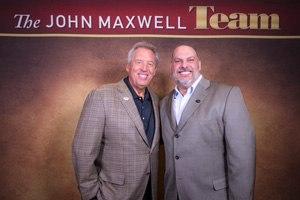 Chris Cebollero and leadership influencer John Maxwell on The John Maxwell Team. (Image Chris Cebollero)