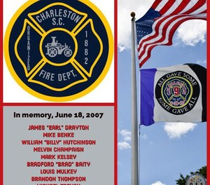 The ceremony will last about 30 minutes, paying respect to the firefighters. (Photo/ Charleston County Consolidated 9-1-1 Center-Public Education Program)