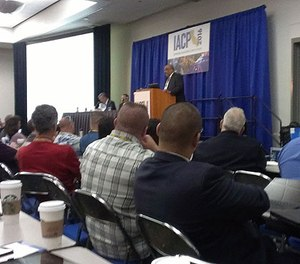 Chicago Police Superintendent Eddie Johnson speaks at a panel on crisis management at IACP 2016. (PoliceOne Image)