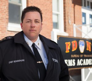 FDNY EMS Chief Lillian Bonsignore started as an EMT in 1991, and is now the first female and openly gay person to head the department.