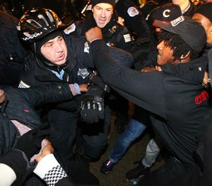 In the hours after the footage was released, protesters seemed to honor pleas for restraint. (MCT Image)