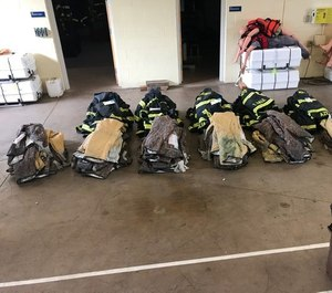 This broken down and tagged gear is ready to go in the extractor for a NFPA 1851 advance cleaning. (Photo/Courtesy Jeff Knobbe, ACFD)