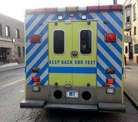 2 firefighters, 2 paramedics injured in crash transporting shooting victim