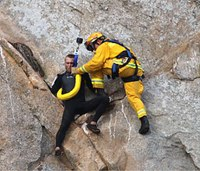 Firefighter recalls daring rescue of lovestruck climber