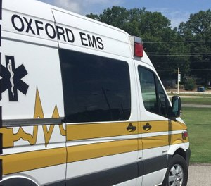 Two Oxford EMS paramedics were hospitalized after being exposed to unknown chemicals while treating a patient. (Photo/Oxford EMS Twitter)