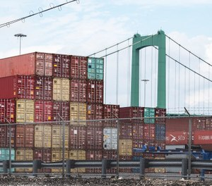Packer Avenue Marine Terminal Port on the Delaware River in South Philadelphia is shown Tuesday, June 18, 2019, when shipping containers full of illegal drugs have been found and seized by federal authorities. (Jose F. Moreno/Philadelphia Inquirer/TNS)