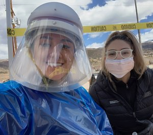 Community Behavioral Health Navigators Coco Andrade (left) and Gladys Villa, of Eagle County Paramedic Services, began helping with COVID-19 testing just a week after they joined the service, and are now preparing to manage the ripple effects of the pandemic on the mental health needs of their community. (Photo/Eagle County Paramedic Services)
