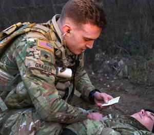 Combat medic's military training and skill sets position them well for civilian EMS (Photo/courtesy Sgt. Alexander Rector, Army National Guard, https://dod.defense.gov)
