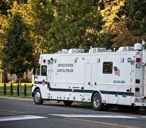 On the day you really need one, command vehicles become crucially important, even invaluable, assets to law enforcement. (AP Image)