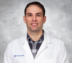 """Eric Cortez, M.D., clinical assistant professor of Emergency Medicine at Ohio Health Doctors Hospital presented a session entitled, """"A Prehospital Approach to Refractory Ventricular Fibrillation,"""" at EMS Today.  (Photo/Courtesy of Eric Cortez)"""