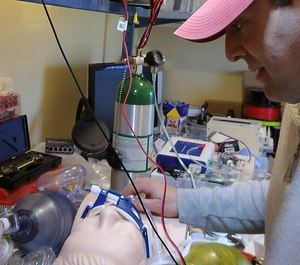 Worcester Polytechnic Institute Professor Greg Fischer is spearheading an effort to develop and share designs that convert bag valve mask resuscitators into ventilators to aid hospitals during the COVID-19 pandemic. (Photo/Worcester Polytechnic Institute)