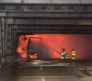 Covington fire personnel were first to arrive since there is an easier access to the northbound lanes from their jurisdiction, just as access to the southbound lanes is better from Cincinnati.