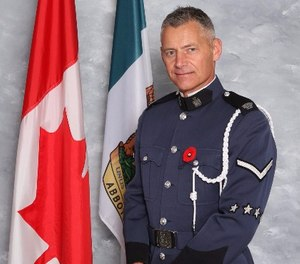 Pictured is Constable John Davidson, who was shot and killed in the line of duty on November 6, 2017.