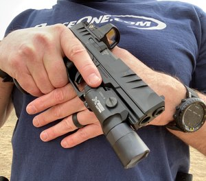 This 9mm, semi-auto duty weapon features a lot of modern features folks in our line of work like to see.