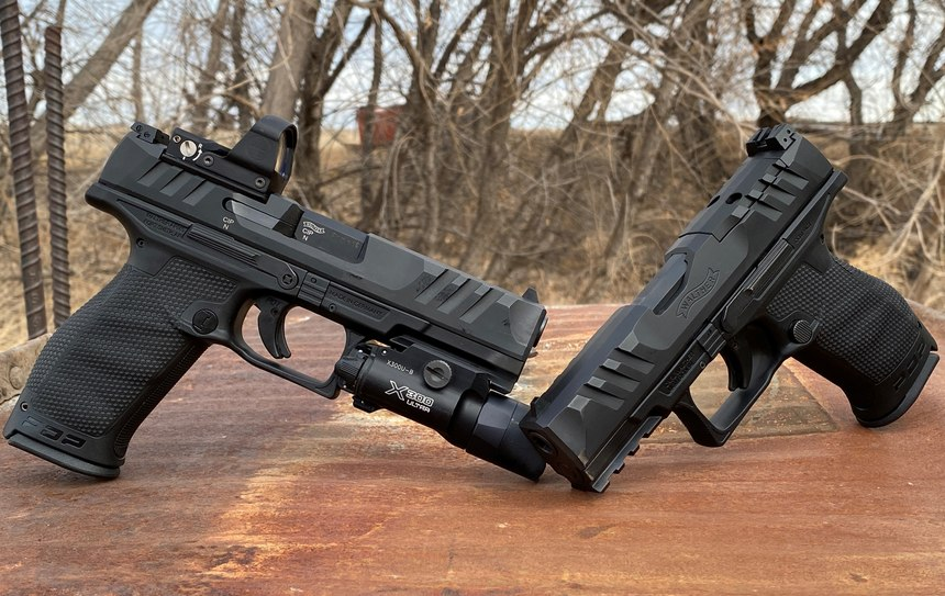 The Walther PDP full-size left and Walther PDP compact right.