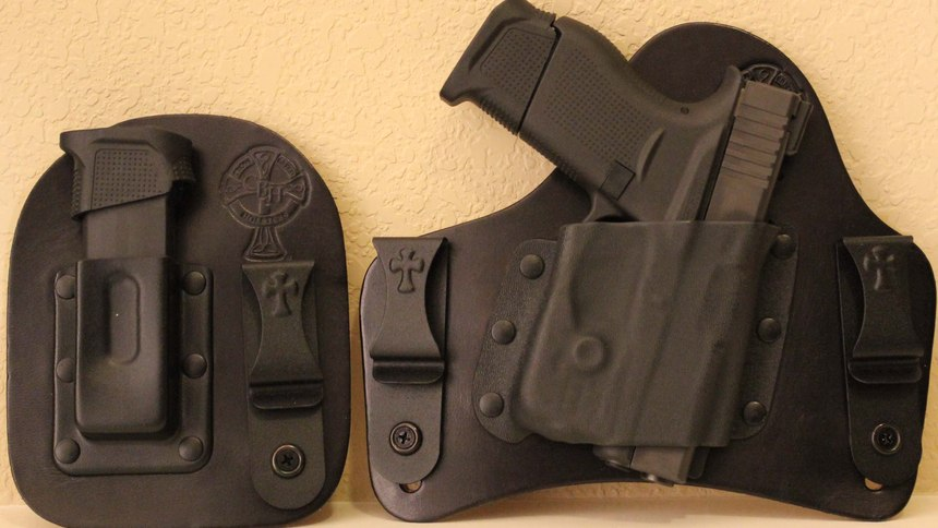 The Supertuck Deluxe from Crossbreed Holsters molds to the body and rounds out the profile of the weapon.