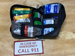 "As soon as you unzip the med kit, a ""Call 911"" prompt falls out, reminding you to get help coming."