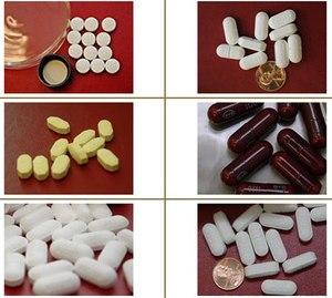 Hydrocodone pills and tablets (DEA Photos)