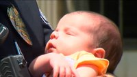 Watch: Quick-thinking rookie cop saves choking infant