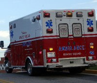 Man shot on highway flags down passing ambulance