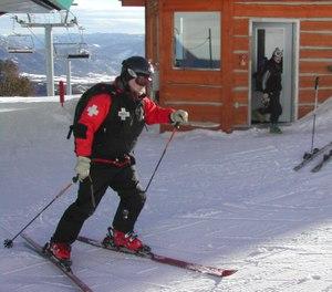 Ski patrollers have emergency medical training can increase rural EMS surge capacity. (photo/Greg Friese)