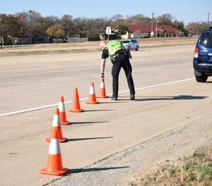 Changing driver behavior is key to reducing traffic fatalities as 94% of traffic accidents result from human behavior such as not wearing seat belts, driving while impaired, looking at devices and speeding. (Photo/PoliceOne)