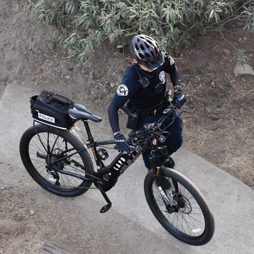 LAPD requires its officers to first successfully pass a 40-hour Basic Bike Patrol Course on a conventional duty bikebefore taking its e-bike course.