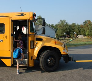 Teach parents and guardians to wait at the bus stop until their child has safely boarded the bus (Image/Greg Friese)