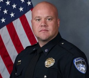 Officer David Sherrard was fatally shot while responding to the disturbance on Feb. 7. (Photo/Richardson PD)