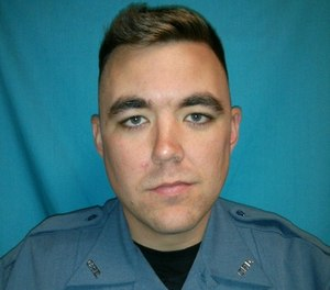 This undated file photo released by Clinton Police Department shows officer Christopher Ryan Morton.