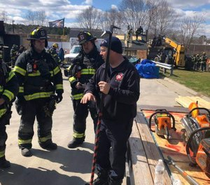 Senior Firefighter Gregory Sellers is one of the instructors for a local area Truck Company Operations class. His knowledge of operations helps prepare these students to handle these types of incidents. (Photo/Gregory Sellers)