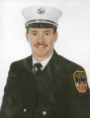 Lieutenant Daniel O'Callaghan of FDNY Engine 54/Ladder 4 was killed while rescuing civilians from an elevator in the South Tower.