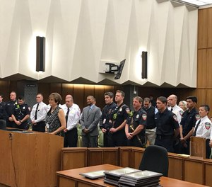 The Contra Costa County Fire Protection District Deputy Fire Chief posted when EMS Director Pat Frost recognized responders in front of the Board of Supervisors (Photo/courtesy https://twitter.com/CON1101)