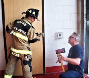 Practice forcible-entry tactics to ensure crewmembers are using the most proven and efficient methods possible. (Photo/Chris DelBello)