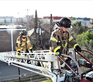 Put that firefighter on the tip! They will be in a better position (literally) than anyone else on the fireground to pick the targets and hit with better precision than the operator at the pedestal or an officer standing in the street yelling directions to the pedestal.