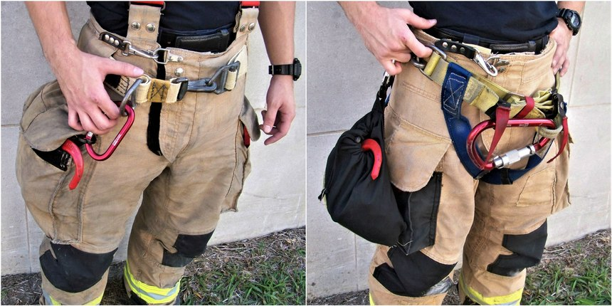 Systems can be placed in your cargo pockets, in a bag that you can attach to your SCBA belt or a special purchased back that is mounted to the lower half of the SCBA.