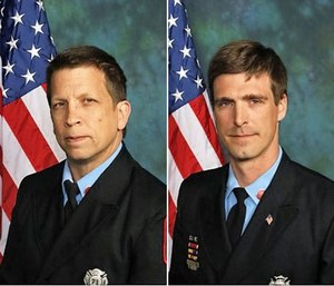 Lt. Christopher Leach and Senior Firefighter Jerry Fickes Jr. (Photo/Wilmington FD)