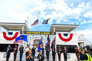 As part of the first responder tribute, all active-duty first responders received free entry to the REV Group Grand Prix activities, including the NTT IndyCar feature race.
