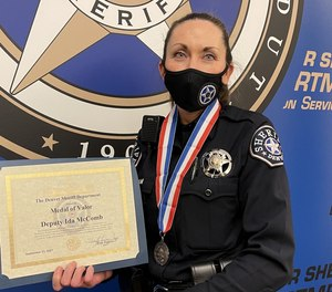 Deputy Ida McComb was recognized by Denver Sheriff Elias Diggins who presented her with the prestigious award at a department ceremony.