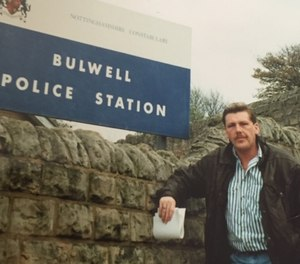 Keith Wright is pictured here in 1987, when the use of CCTV and other investigative techniques we now take for granted were just launching. (Photo/Keith Wright)