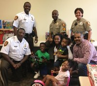 Police, donor surprise kids whose mother was fatally shot in front of them