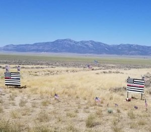 The scene where Nevada Highway Patrol Sgt. Ben Jenkins was killed on March 27, 2020.