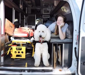 Eight years ago, if someone had told Lauren Christie – a college graduate with a degree in business administration and marketing – that one day she would spearhead an EMS therapy dog program, she probably wouldn't have believed it herself.