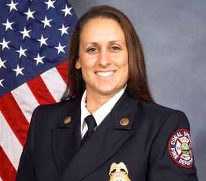 Coral Springs-Parkland Fire Department Lt. Kandice Oltz was with her wife, Oakland Park Firefighter-Paramedic Jennifer Oltz, on Dania Beach's Whiskey Creek on April 25, when they heard a father frantically pulling his lifeless toddler from the water.