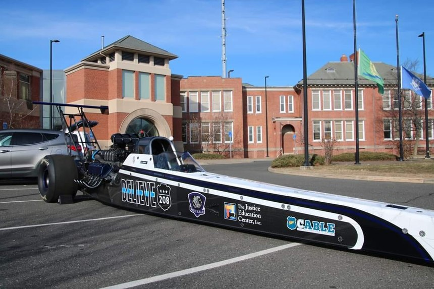 Thin Blue Line Motorsports revealed a dragster bears the dates of all officers lost to line of duty death and to suicide from January 1, 2008, to October 5, 2018.