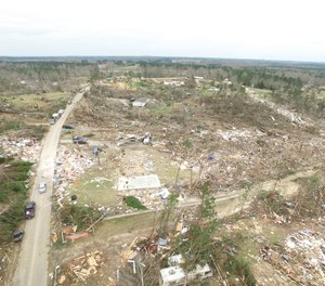 Using a drone helped Padgett's department complete damage assessment following a tornado. The video from the drone camera captured so much detail that the team was able to track our crews and their progress, then decide where they would move next.