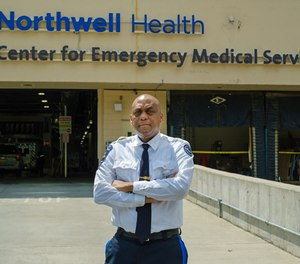 Paramedic Bernard Robinson, a regional director for Northwell Health's Center for Emergency Medical Services who survived COVID-19, will be honored by NASCAR star Kurt Busch at the Xfinity 500 on Sunday.